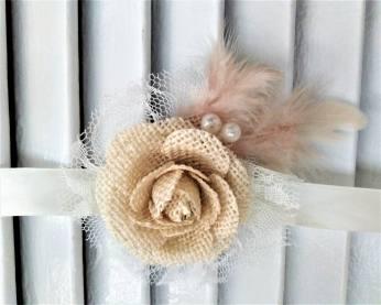 WEDDING BRACELET ΛΟΥΛΟΥΔΙ ΛΙΝΟ